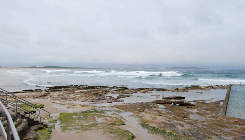 The Cronulla Beaches stretch northward to Botany Bay.