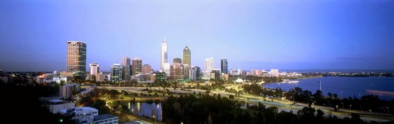 Perth Skyline - Tourism Australia Copyright.