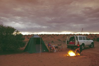 Australian Desert Camping in the Simpson
