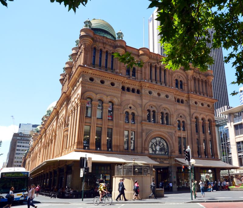 The Sandstone Romanesque Queen Victoria Building QVB