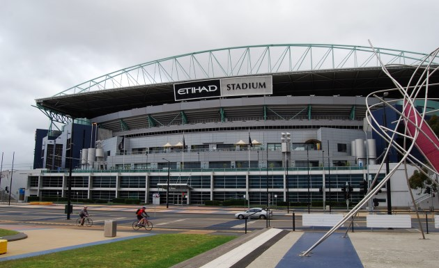 Etihad Stadium at Docklands Stadium, home to ARL teams of Essendon, North Melbourne, St. Kilda and the Western Bulldogs
