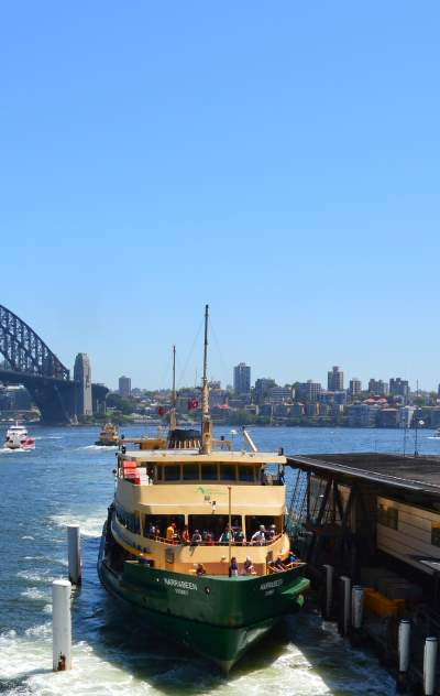 Ferry to Manly, north of Sydney Harbour