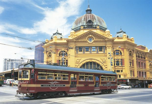 Flinders Street Station and the City Circle Tram for City Tours