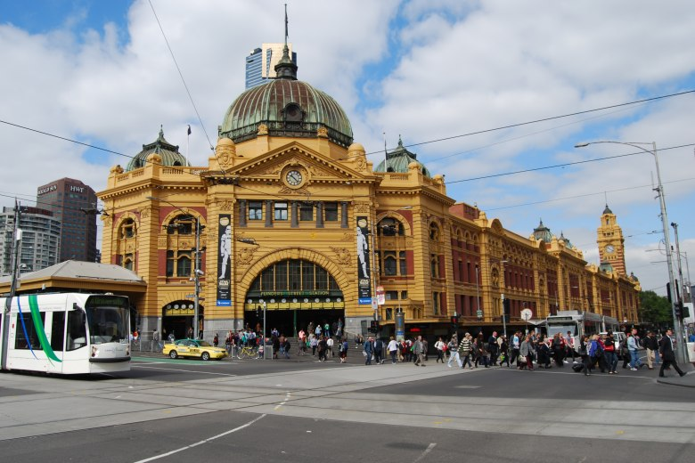 flinders street station. Black Bedroom Furniture Sets. Home Design Ideas