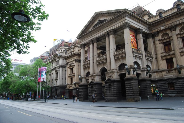 Melbourne Town Hall, on Swanston Street in the CBD.