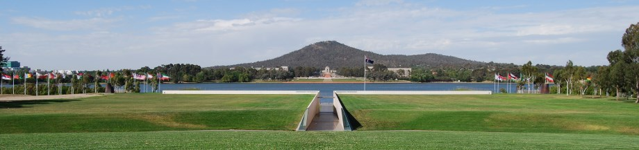 Canberra Places to Visit: War Memorial Museum as seen across Lake Burley Griffin