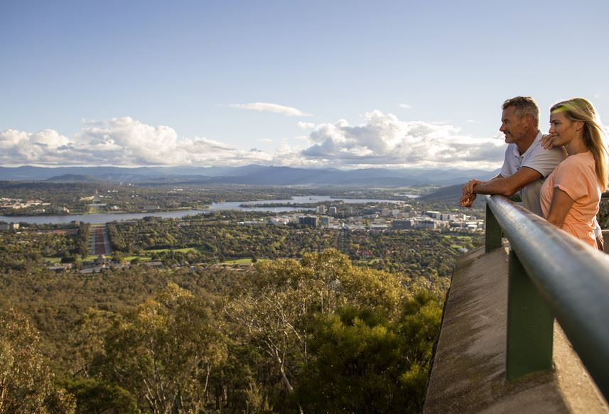 View of Canberra from the Mt Ainslie Lookout - Tourism Australia Photographer: Adrian Brown