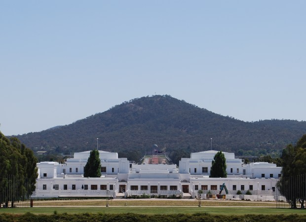 Old Parliament House, with the Australian War Memorial in the Background