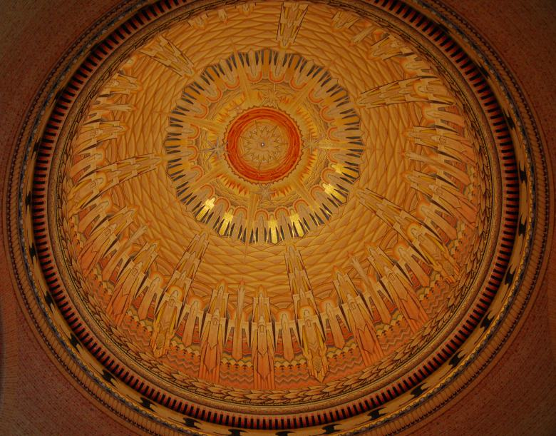 One of the largest dome mosaics in the world, Hall of Memory