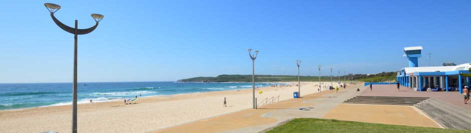 Maroubra, like Bondi, has a beautiful crescent beach with surf.