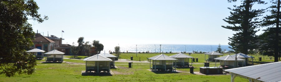 Bronte has a large Park behind the Beach