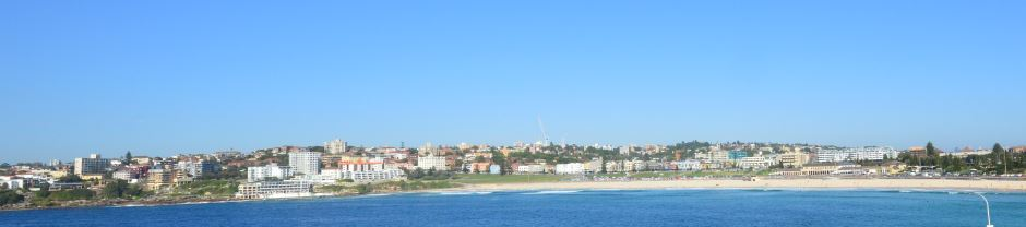 The Long Crescent Shape of Bondi Beach