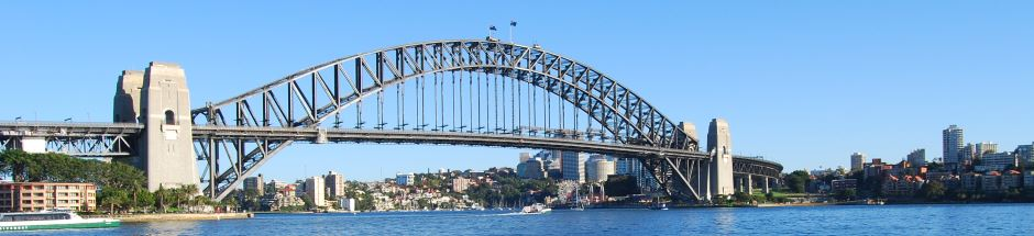Sydney Harbour Bridge as seen from the Opera House
