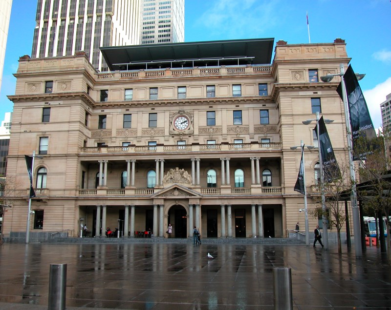 Customs House in Sydney Australia and where the British flag was planted