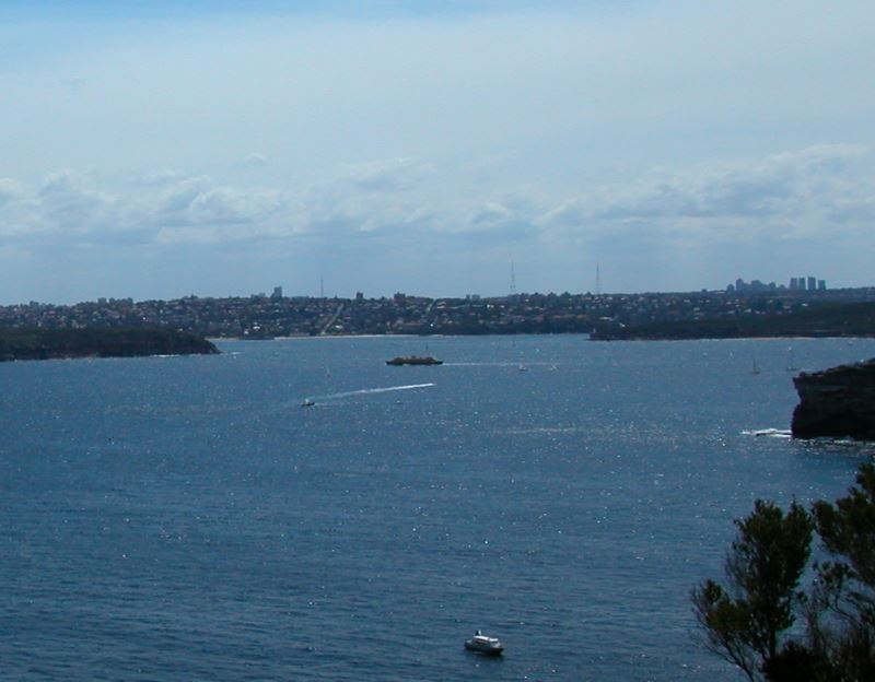 Hunters Bay, near the Center of the Photo. The Office Towers of Chatswood are in the Distance