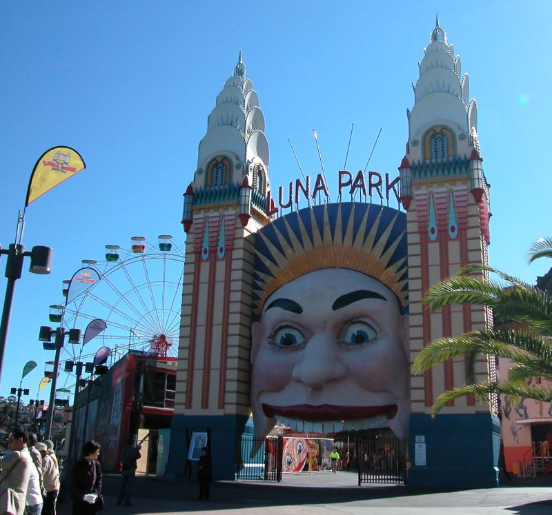 Luna Park's Smiling and slightly Mad Face.