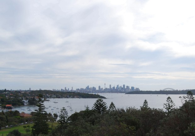 Sydney Harbour with Watsons Bay on the left