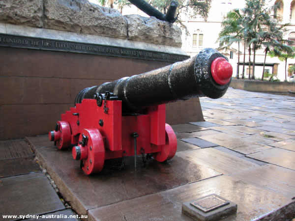 First Fleet Cannon at Macquarie Place Park.