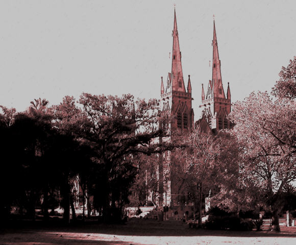The spires of the Cathedral were completed only a number of years ago.