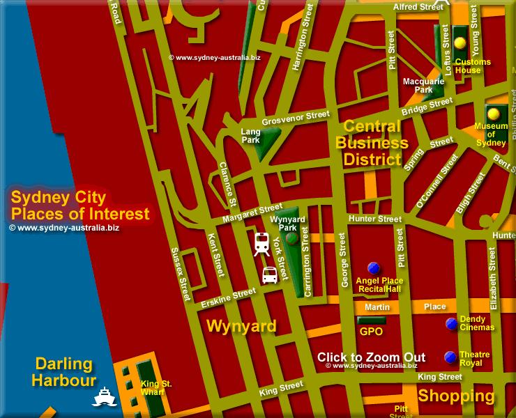 Wynyard in the City - Click to Zoom Out © www.sydney-australia.biz