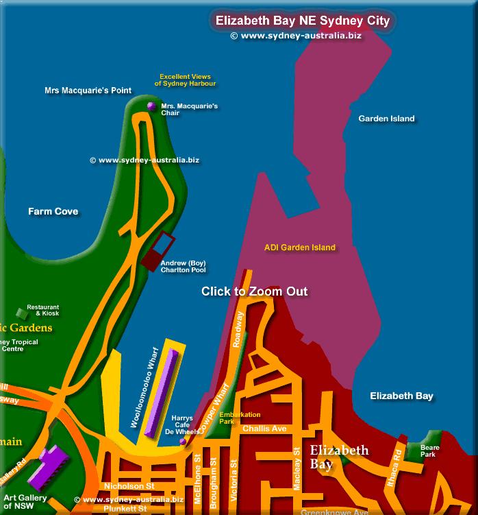 Map Sydney Australia - Click to Zoom Out © www.sydney-australia.biz