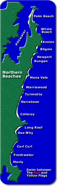 Sydney Beaches Map Sydney Northern Beaches Map Sydney Beaches Map