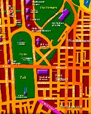 Map of Sydney CBD - Click to Zoom