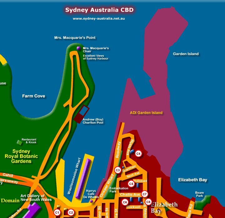 Map Sydney Australia - Click to Zoom Out