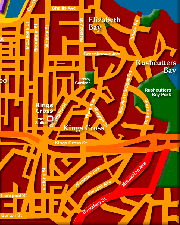 Sydney City Map - Kings Cross to Central - Click to Zoom