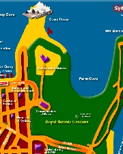 Map of Sydney CBD East - Click to Zoom