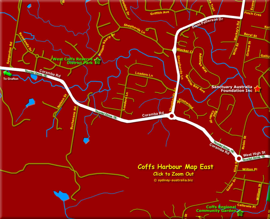 Map of Coffs Harbour West - Click to Zoom Out