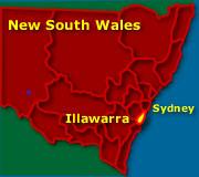 Illawarra and Wollongong Map NSW