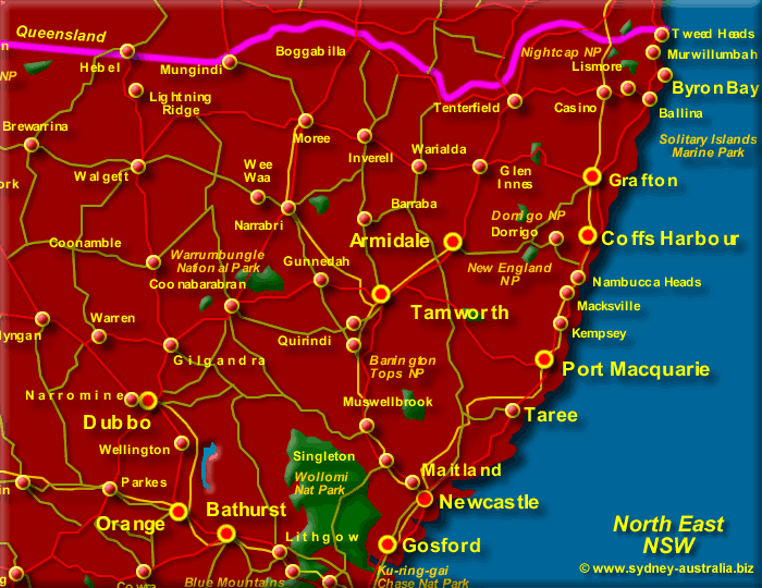 map of new south wales north east click to zoom out