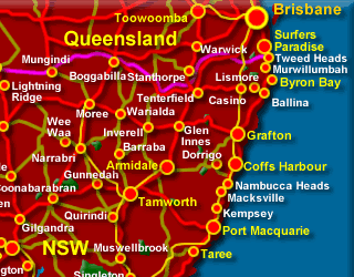 Tourist Map Of East Coast Of Australia.Maps Of Nsw Places To Visit