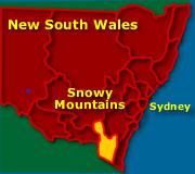 snowy mountains australia map Snowy Mountains Map Nsw
