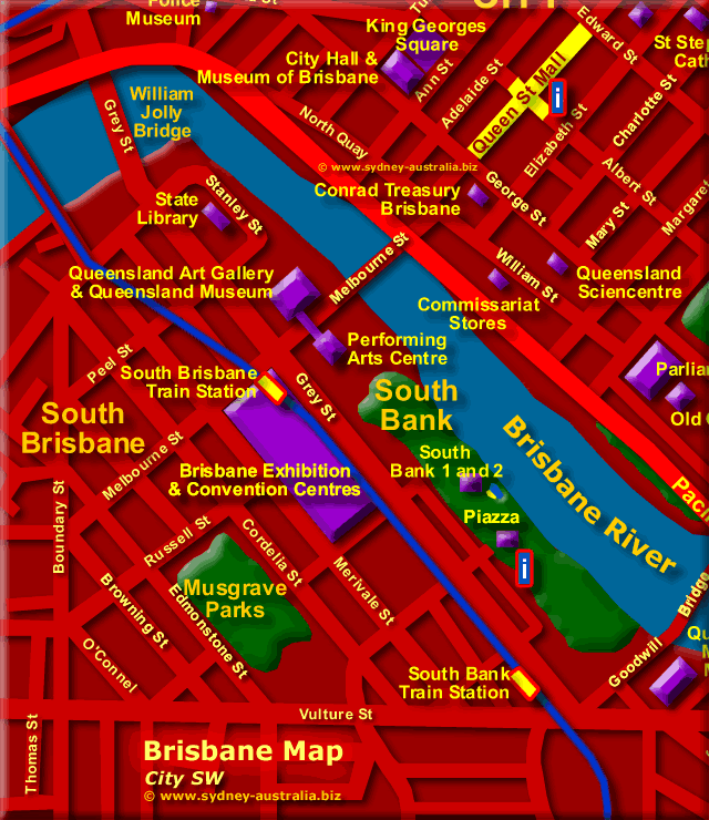 Map Showing South Brisbane - Click to Zoom Out