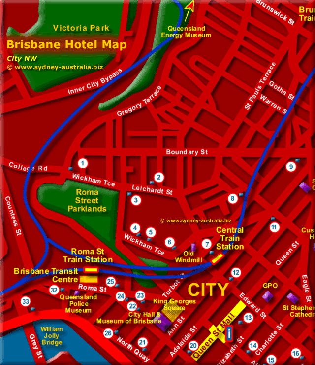 Brisbane Map - Click to Zoom Out