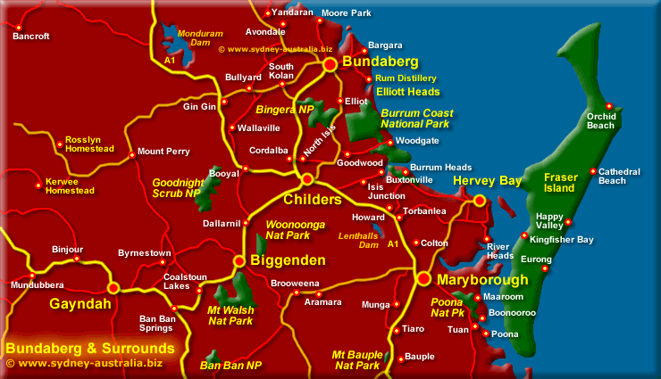 Bundaberg Surrounds Map Queensland