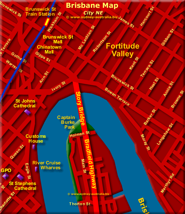 Brisbane City Map - Click to Zoom Out