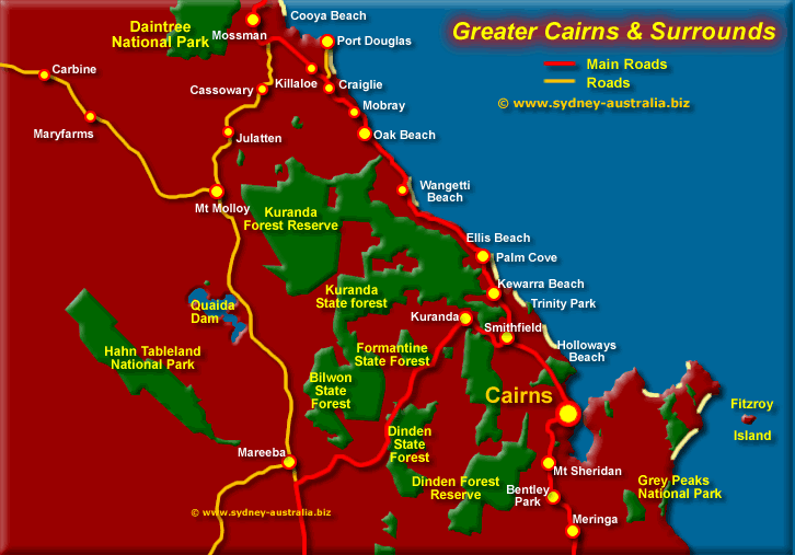 Tropical North   Cairns Map