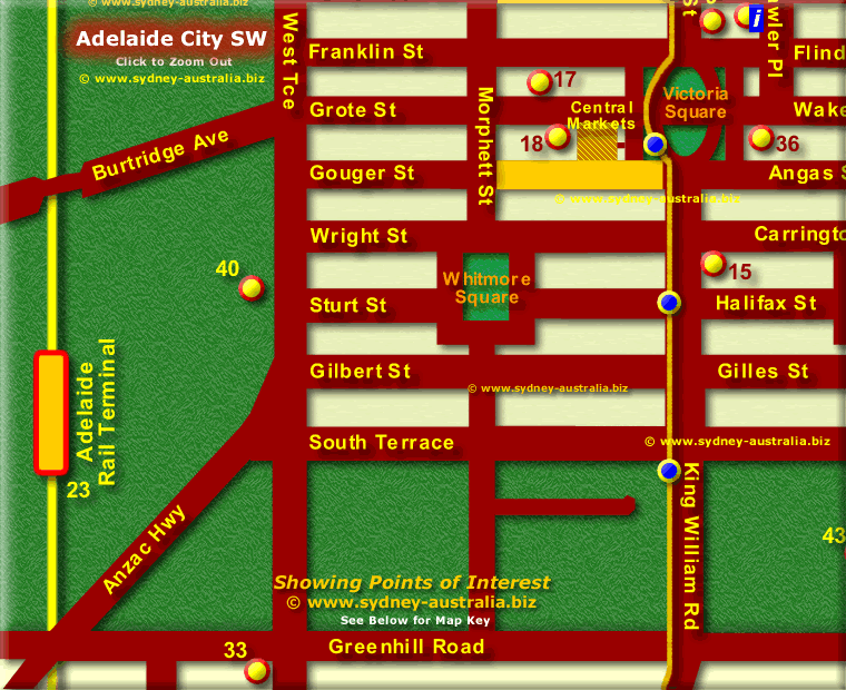 SE Adelaide CBD - Click to Zoom Out