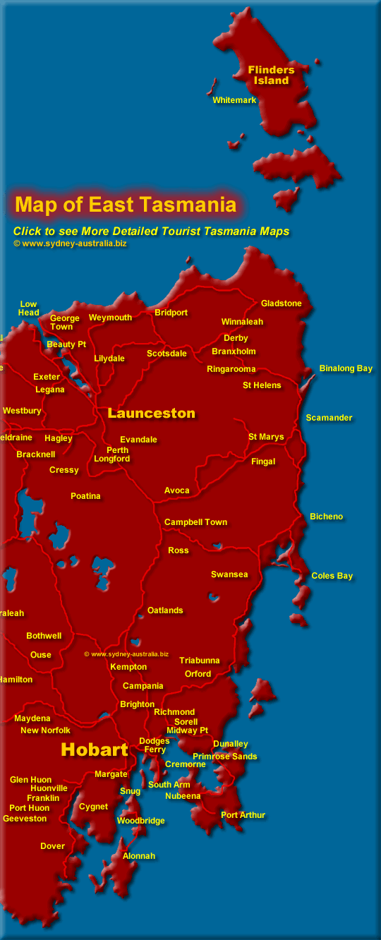 Click to See More Detailed Tasmania Map