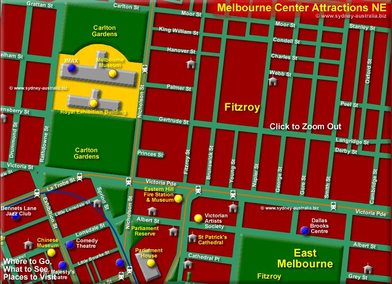 Melbourne CBD North East - Click to Zoom Out © www.sydney-australia.biz