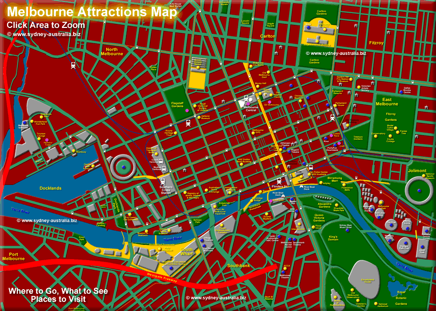 Melbourne Attractions Map