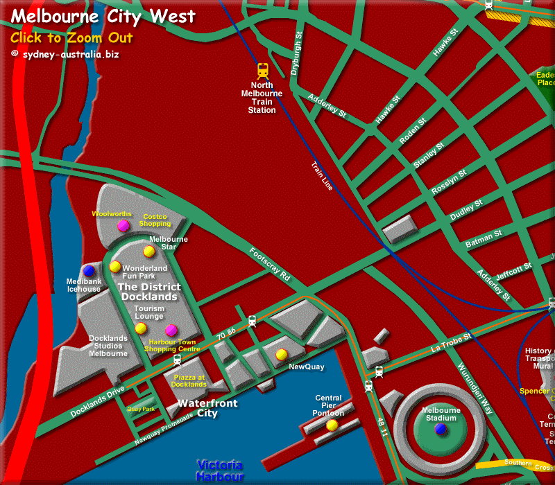 West Melbourne CBD - Click to Zoom Out