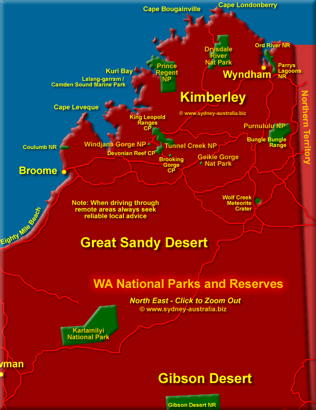 North East Parks and Reserves. Click to Zoom Out