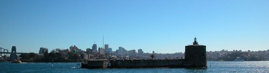 The low profile of Fort Denison, Sydney Australia