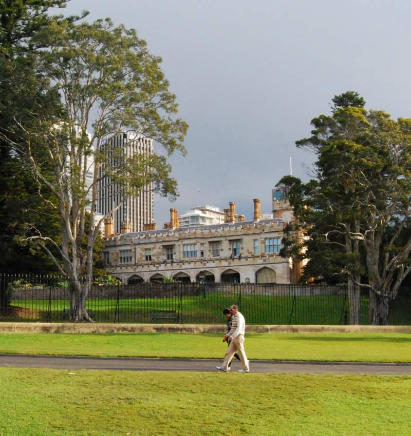 New South Wales Government House as Seen from the Botanic Garden