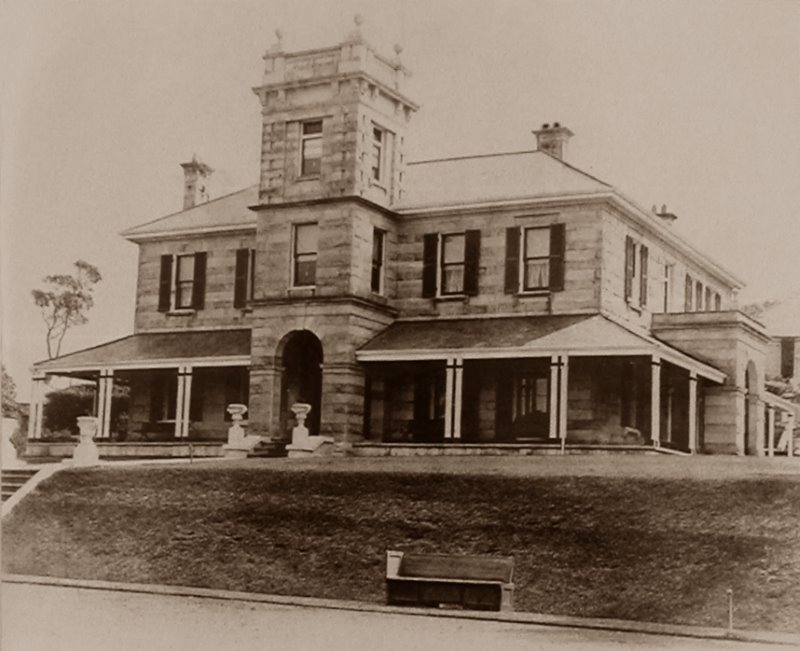 Old Photo of Fairlight House, once located here (Scenic Manly Walk).