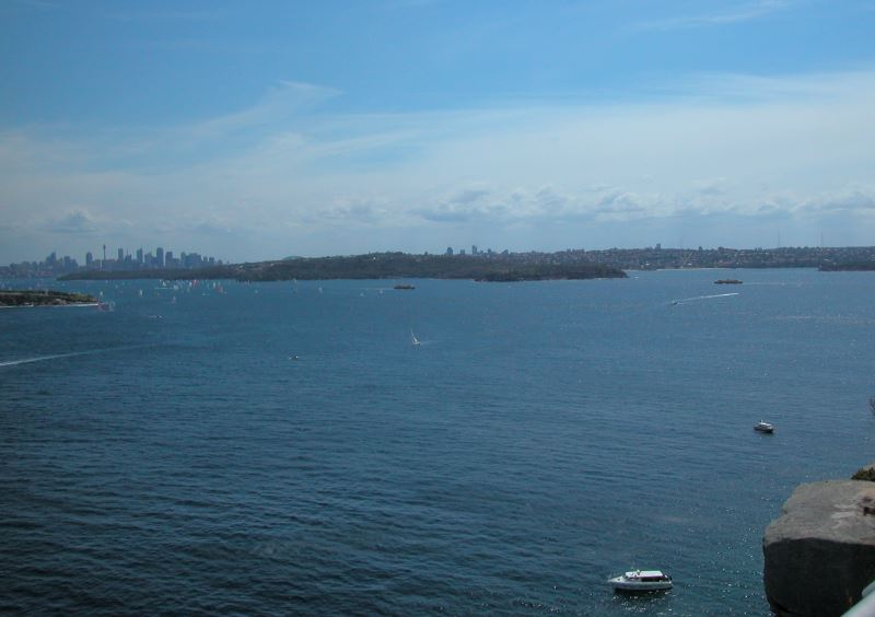 View towards Sydney City and the Harbour from North Head